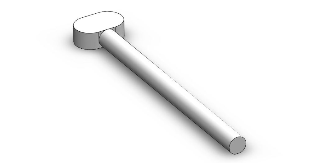 G36 stock pin 3D model