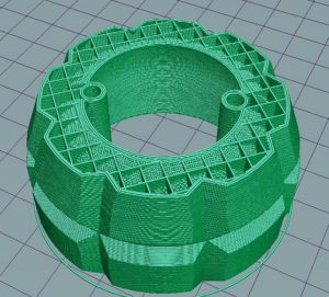 3D print preview cross section