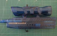 Clear plastic airsoft toy gun